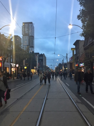 Early on at Nuit Blanche - an all night street festival of arts