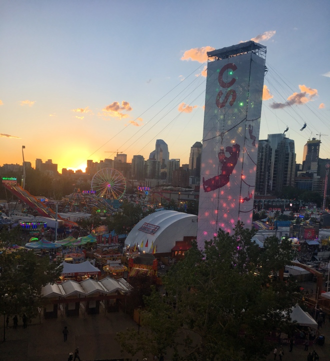 Sunset on the Calgary Stampede